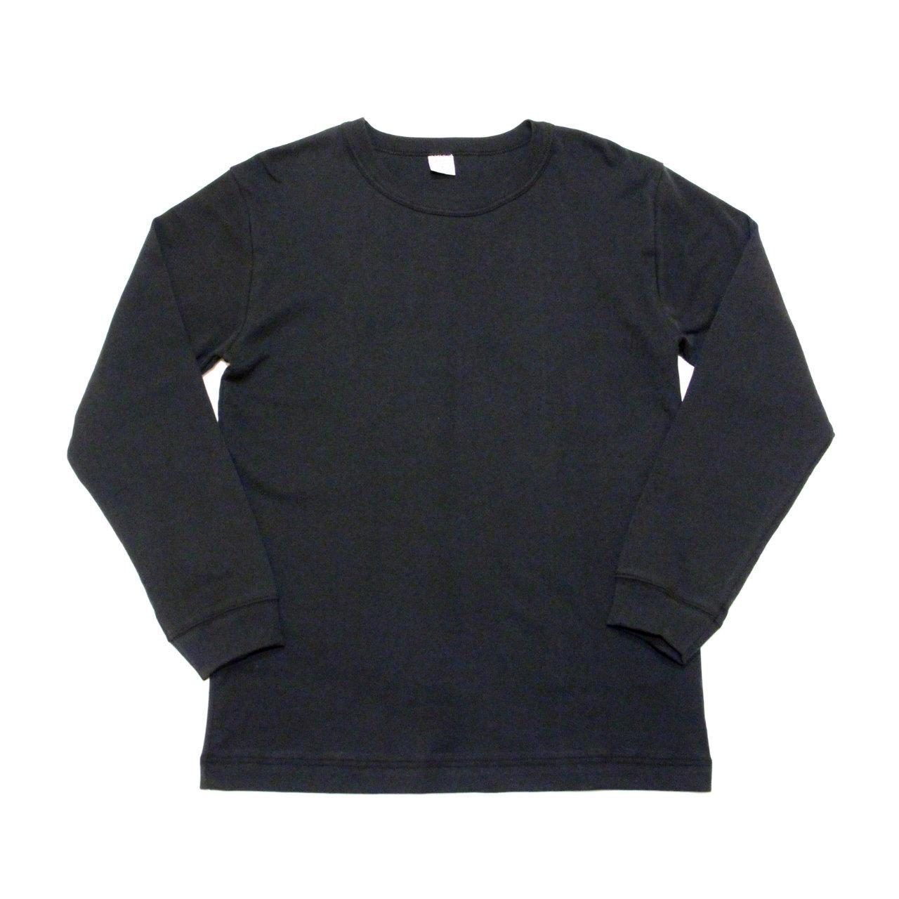 【gicipi】 イタリア製 コットン クルーネック 長袖 Tシャツ ( Giro Collo ML 2003 P) 〈Black〉