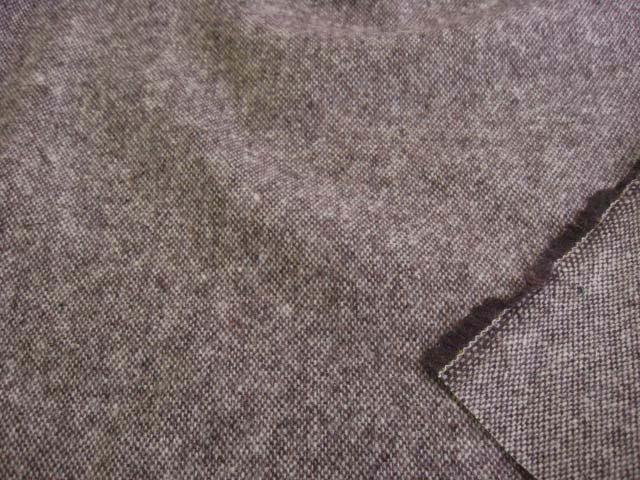 カシミア混ウールツイード(微起毛) ブラウン UR-0127