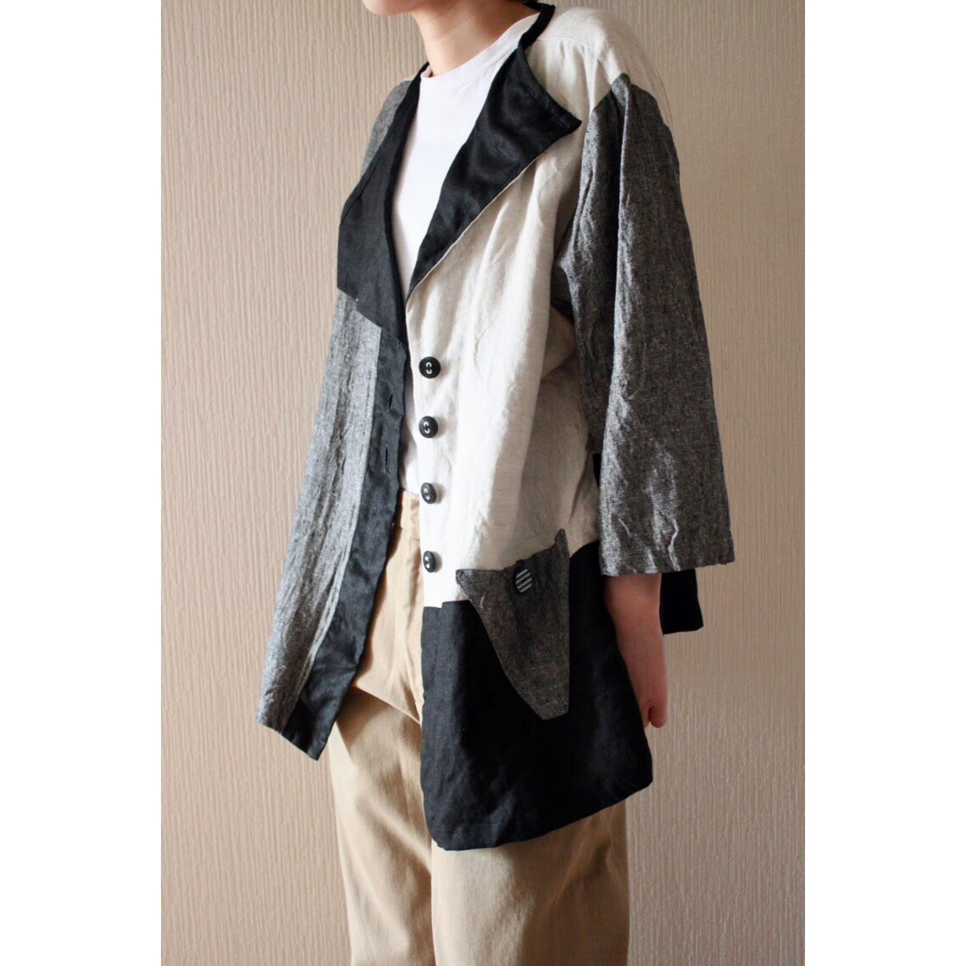 Vintage crazy pattern linen jacket