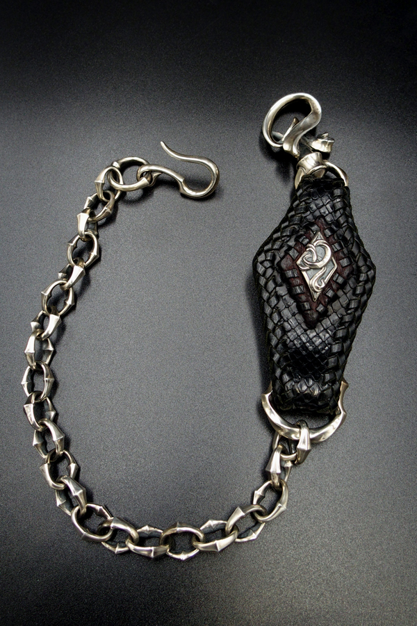Item No.0315:Special Custom un Chained chain Wallet Chain/Diamond Python BLACK
