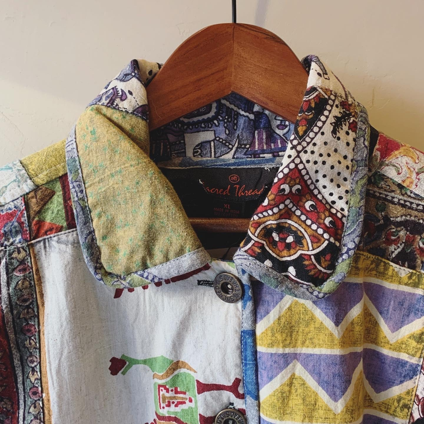 vintage Indian cotton patchwork jacket
