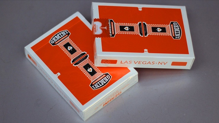 Gemini Casino Orange Playing Cards by Toomas Pintson