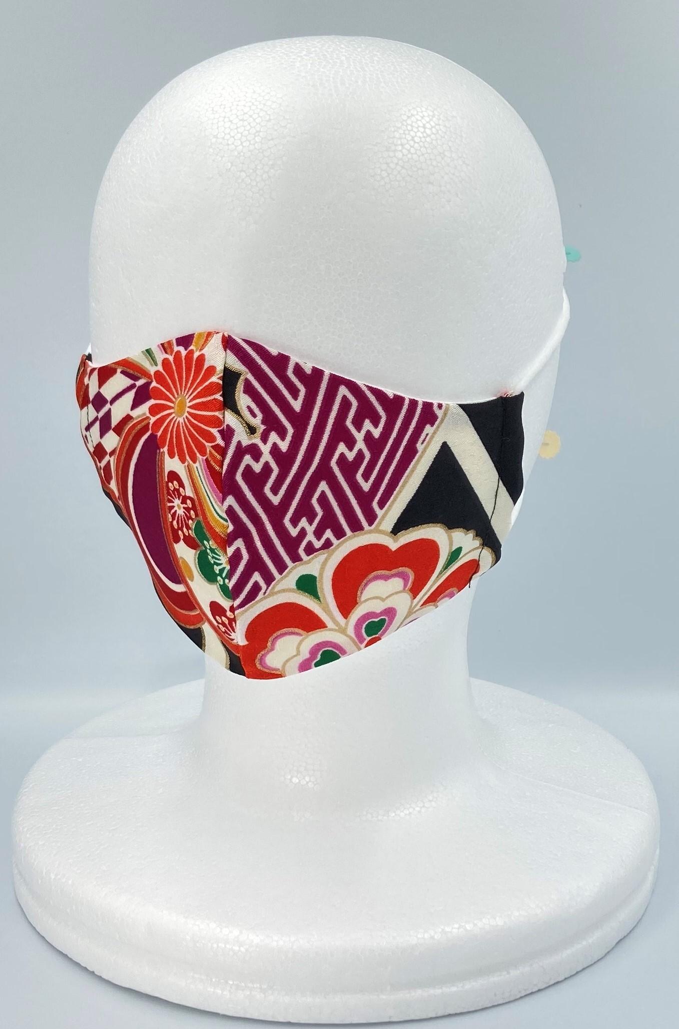 リメイク着物マスク A011