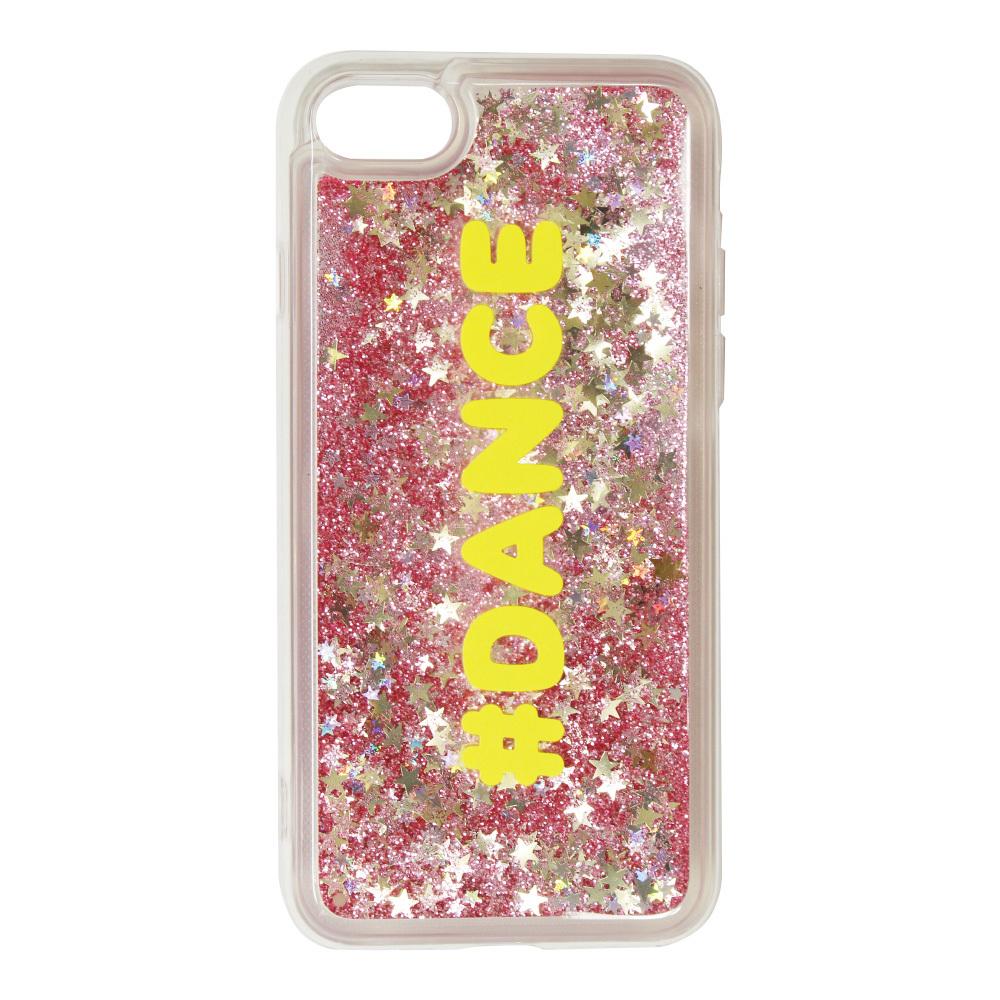 グリッターカラ—【ピンクラメ】iphoneケース【7・8専用】