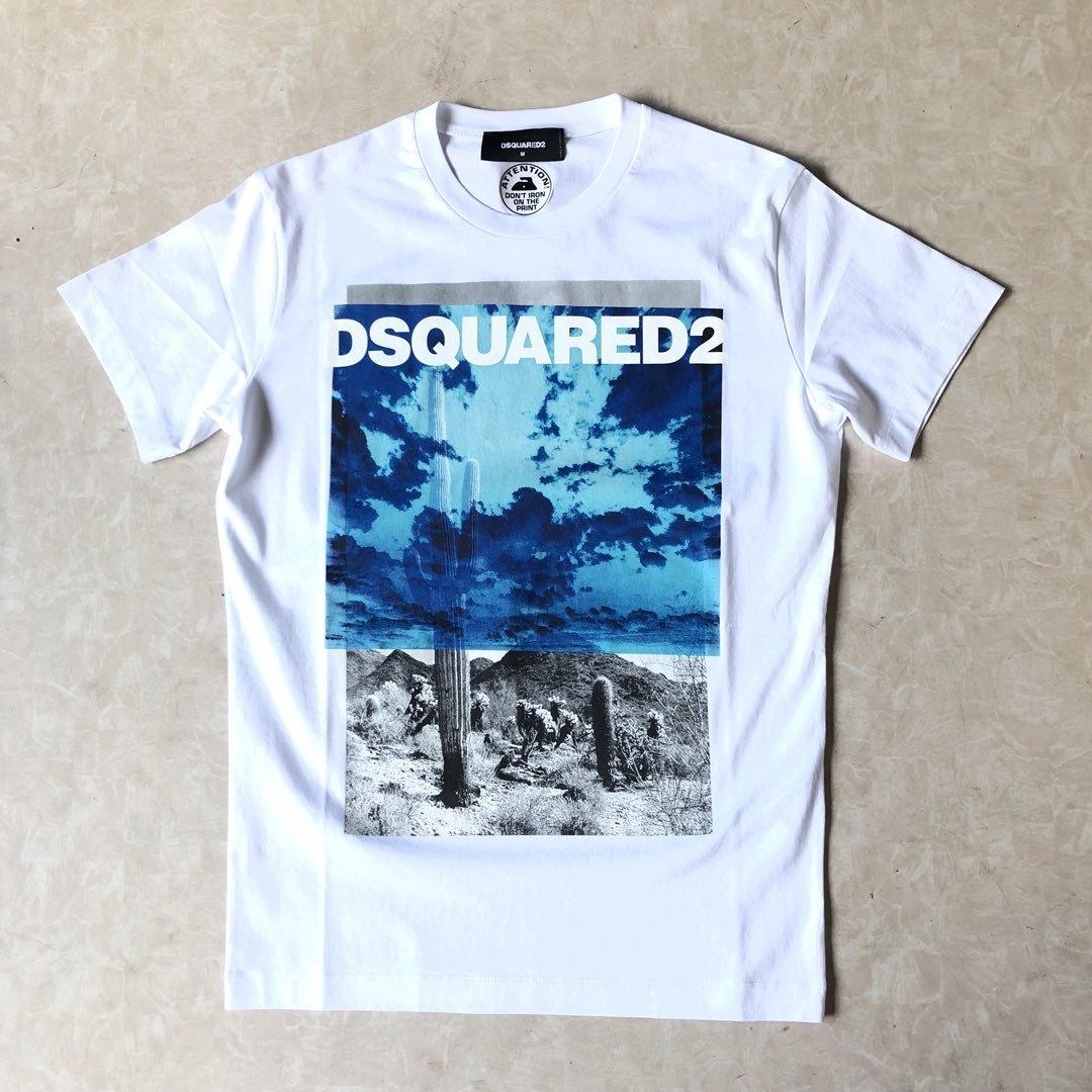 DSQUARED2 ディースクエアード フォトロゴTシャツ ホワイト S71GD0676