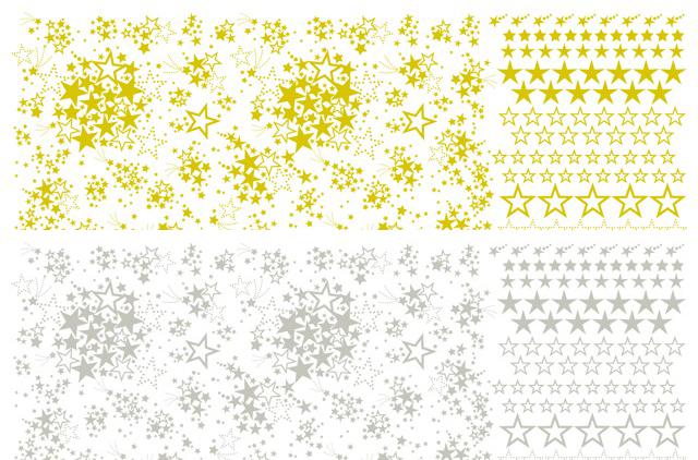 【割引】ガラス用 お星さまスター2色セット A3サイズ(ポーセリンアート用転写紙)