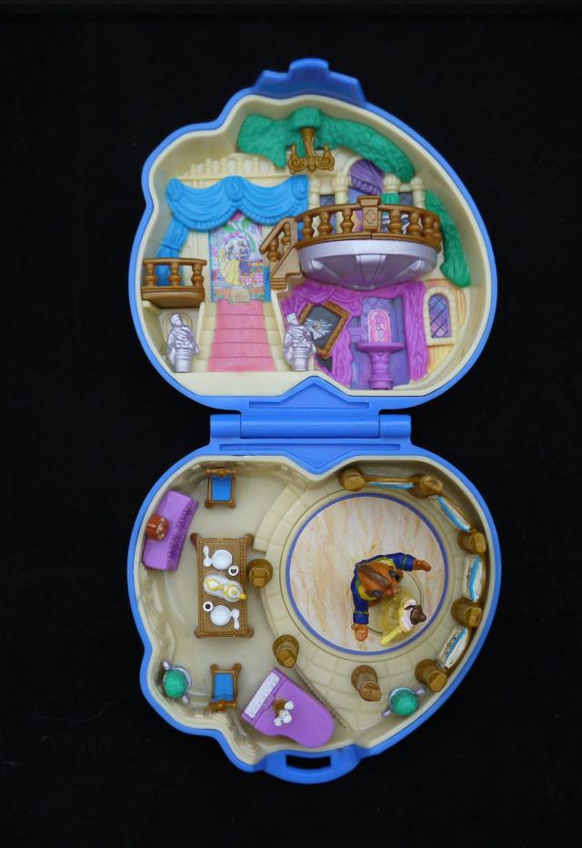 ポーリーポケット ディズニー 美女と野獣のコンパクト 完品