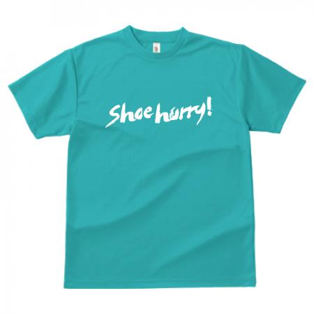 【ターコイズ/ホワイト】SHOEHURRY! ドライTシャツ