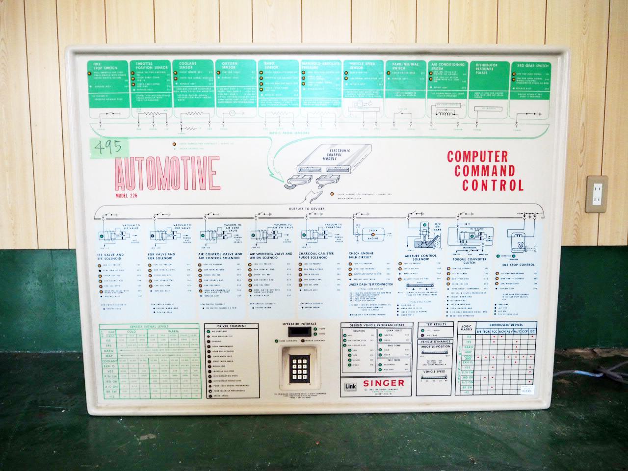 品番4958 AUTOMOTIVE モデル 226 車修理電子パネル アメリカン ヴィンテージ 雑貨