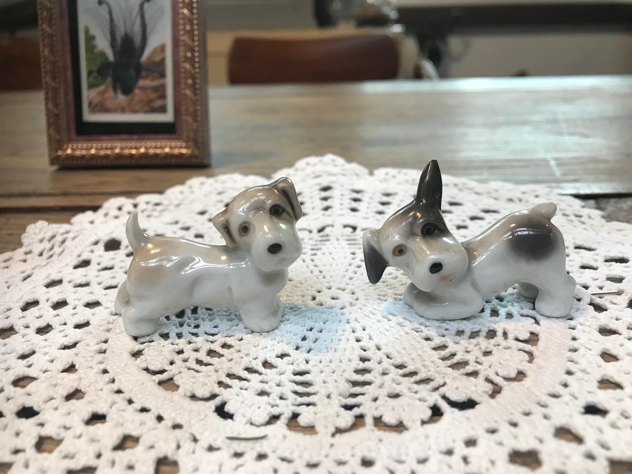 JAPAN 1960年代 陶器 人形 犬 セット