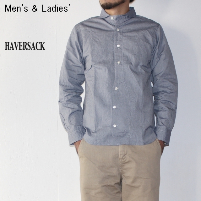 HAVERSACK 丸襟シャツ BASIC SHIRTS 4212734 (BLUE)