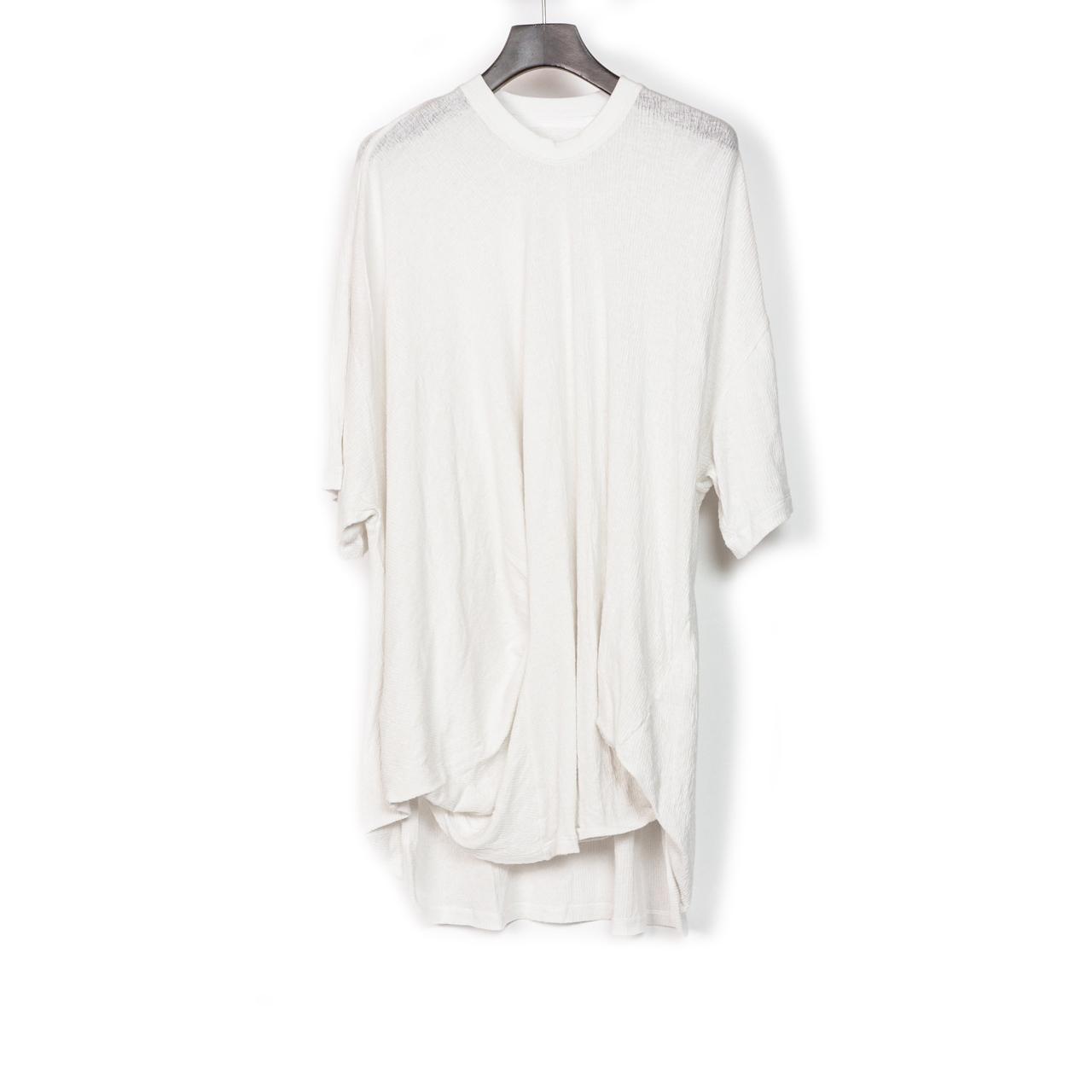 697CUM7-WHITE / フロントドレープ Tシャツ