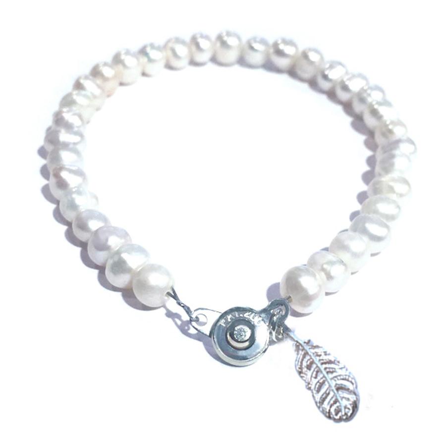 本真珠のブレス(ホワイト)