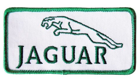 ジャガー・ロゴ・ワッペン・ホワイト
