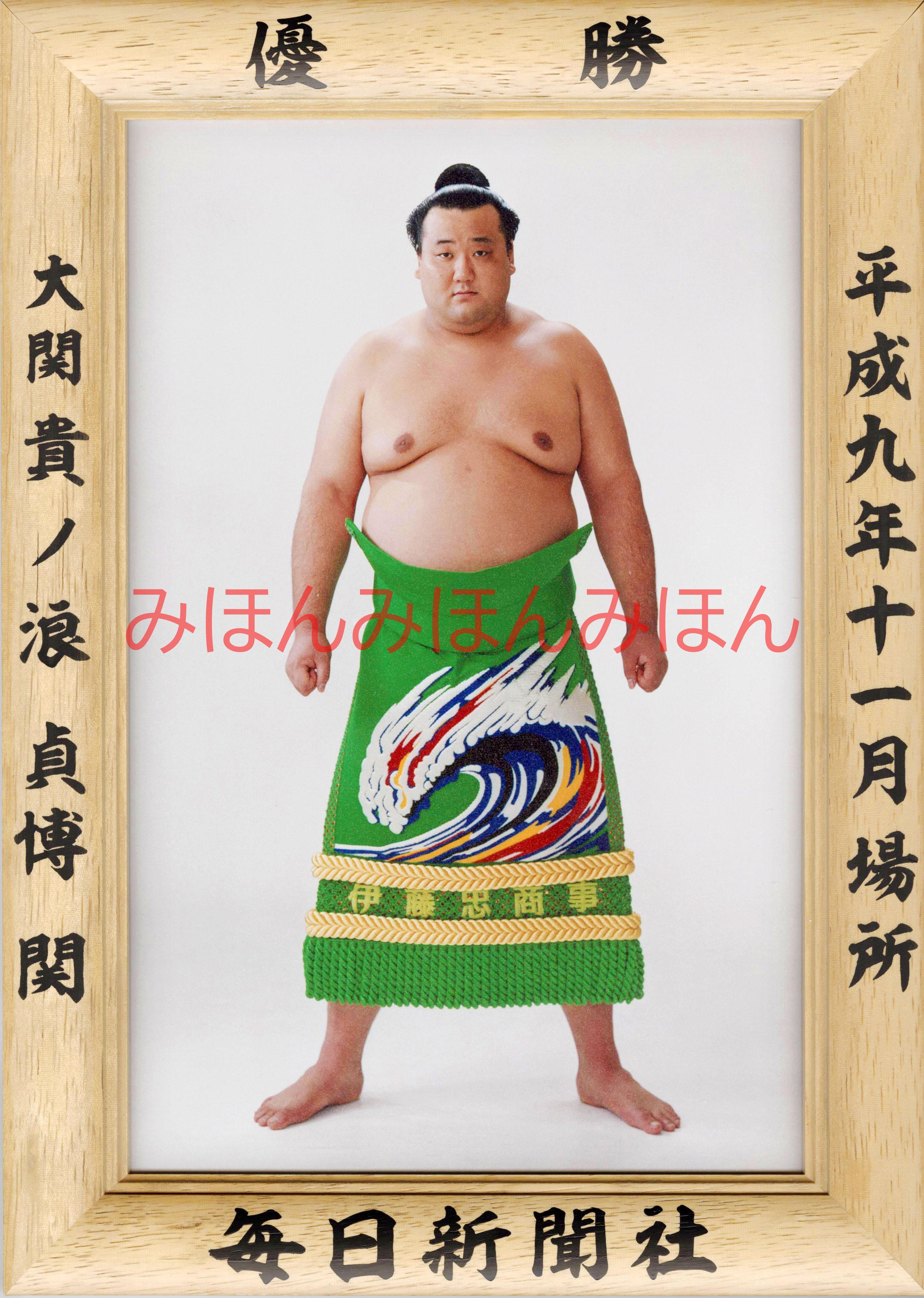 平成9年11月場所優勝 大関 貴ノ浪貞博関(2回目の優勝)