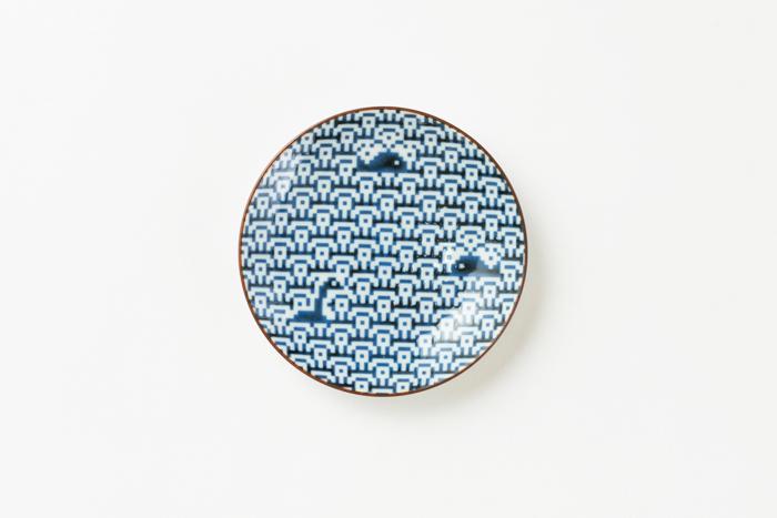 波にくじら 小皿 / The Porcelains