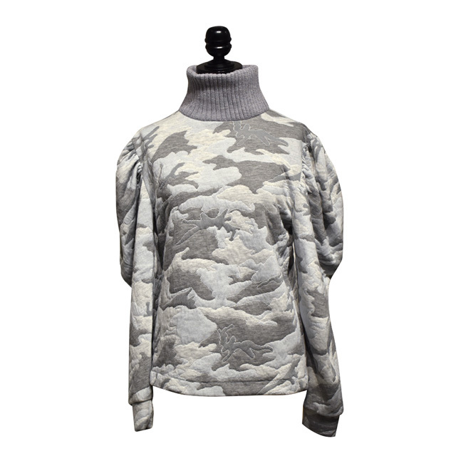 INFANANYMOUS / Camo Jacquard Pullover / Pastel Gray