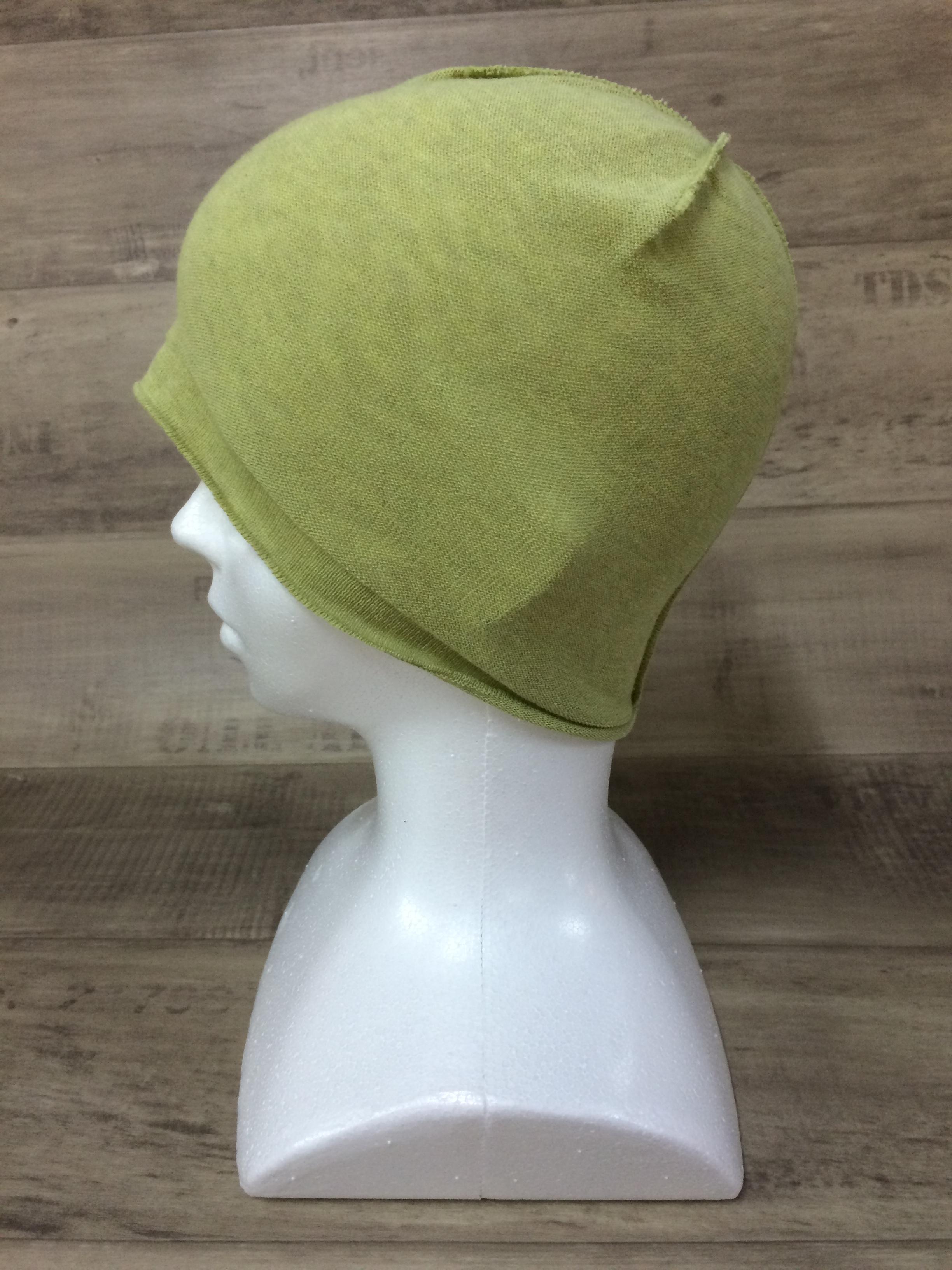 【送料無料】こころが軽くなるニット帽子amuamu|新潟の老舗ニットメーカーが考案した抗がん治療中の脱毛ストレスを軽減する機能性と豊富なデザイン NB-6057|ピスタチオ <オーガニックコットン インナー>