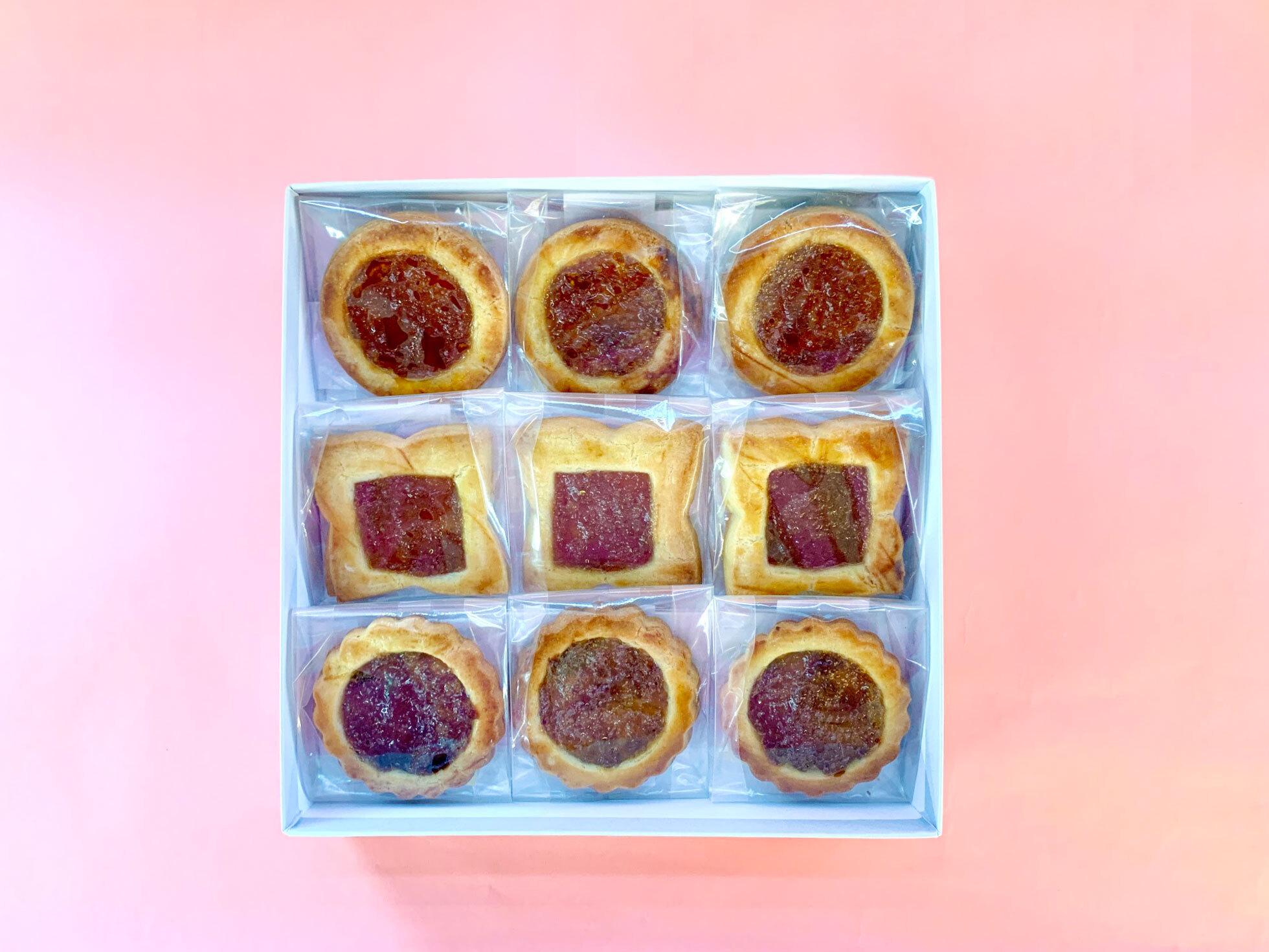 【8/6発送分予約】空家スイーツ(ロシアケーキ)9個入り1箱(ゆず/かき/うめ)