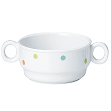 【1910-1080】強化磁器 9.7cm 両手つきカップ ぴこ