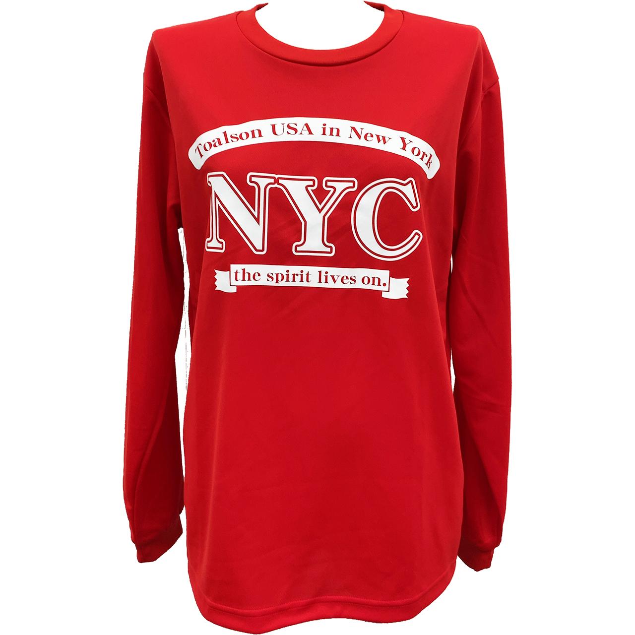NYCロングTシャツ(レッド)