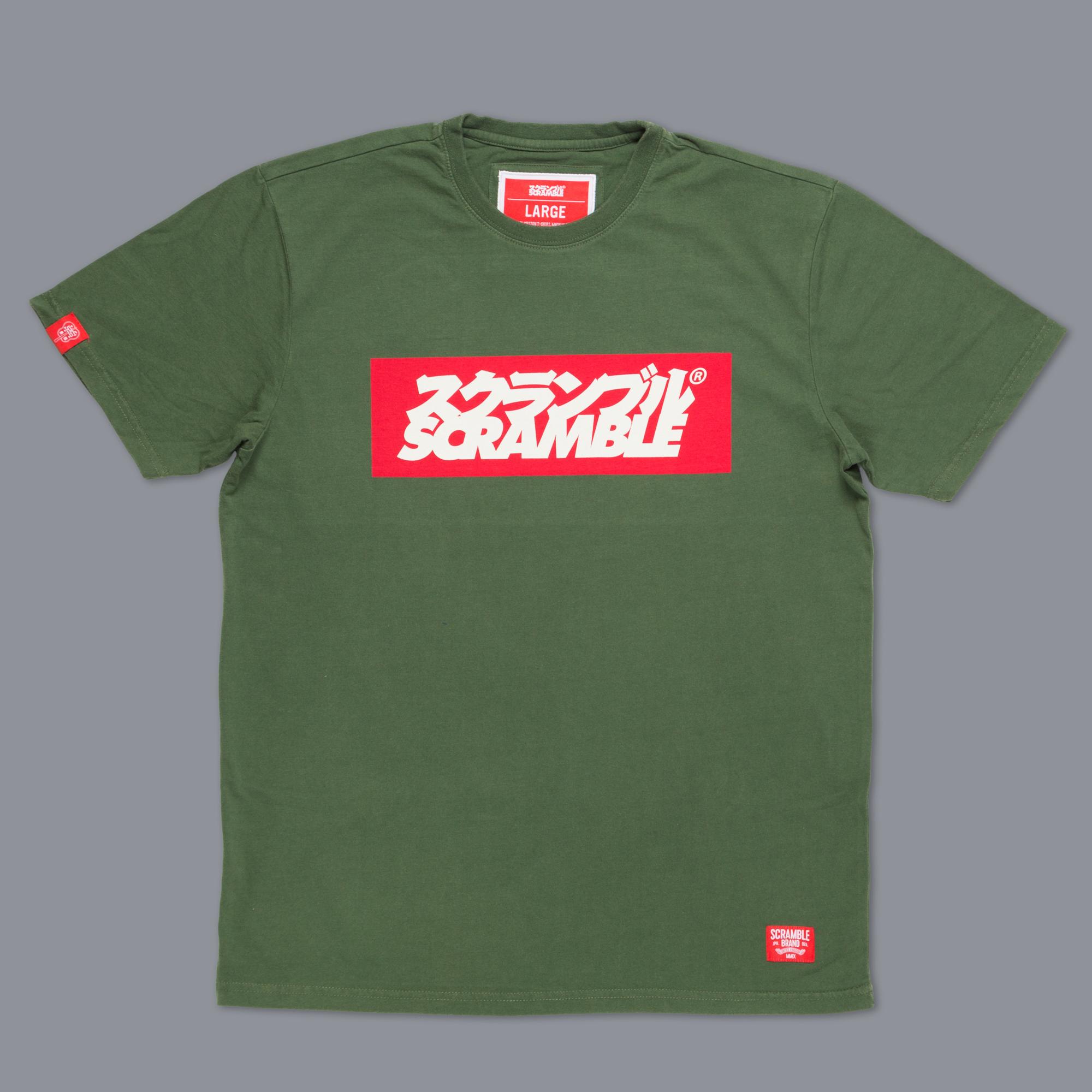 SCRAMBLE ブランドロゴ Tシャツ – グリーン