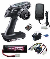 サンワ MX-6 (BL-SIGMA/SRM-102Z) EPスタートセット 動力用の急速充電器+ニッケル水素バッテリー付き