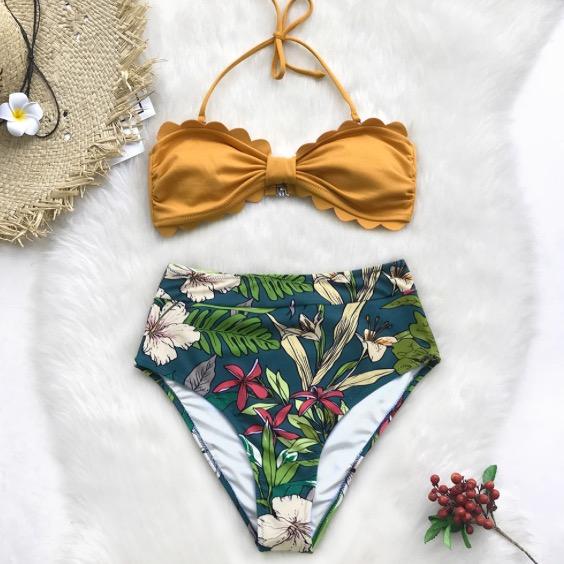 ♡送料無料♡ import トロピカル Bikini ~ 水着 ビキニ【お取り寄せ】