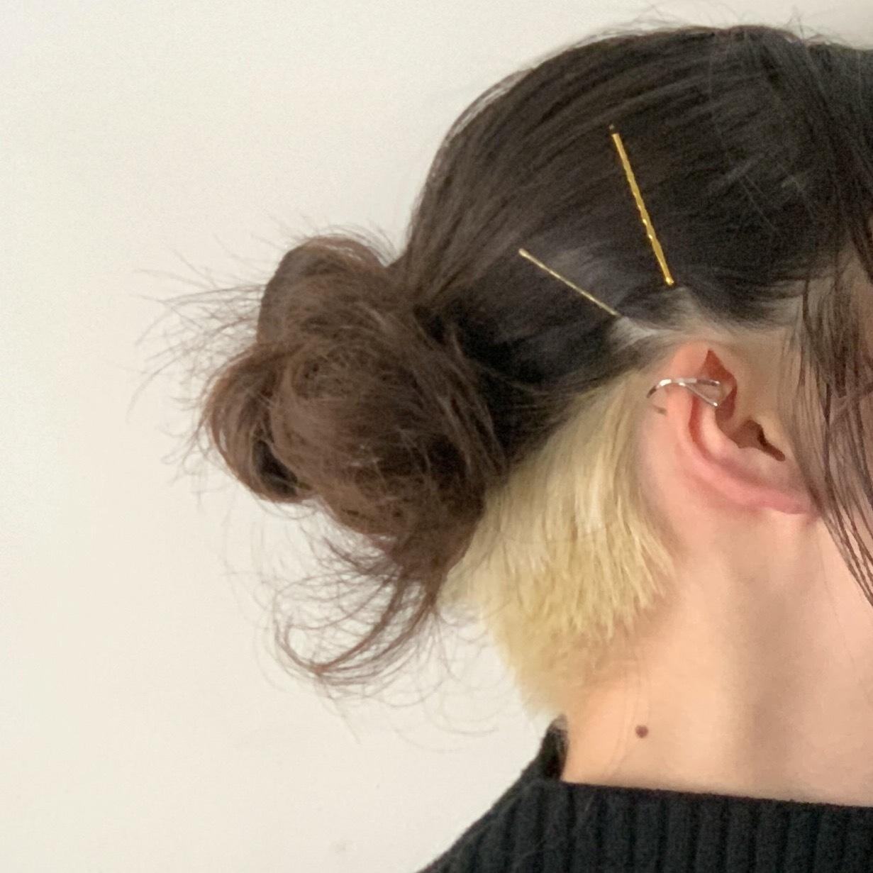 W Line Ear cuff ダブルラインイヤーカフ #SP0206【STELLAPARK】