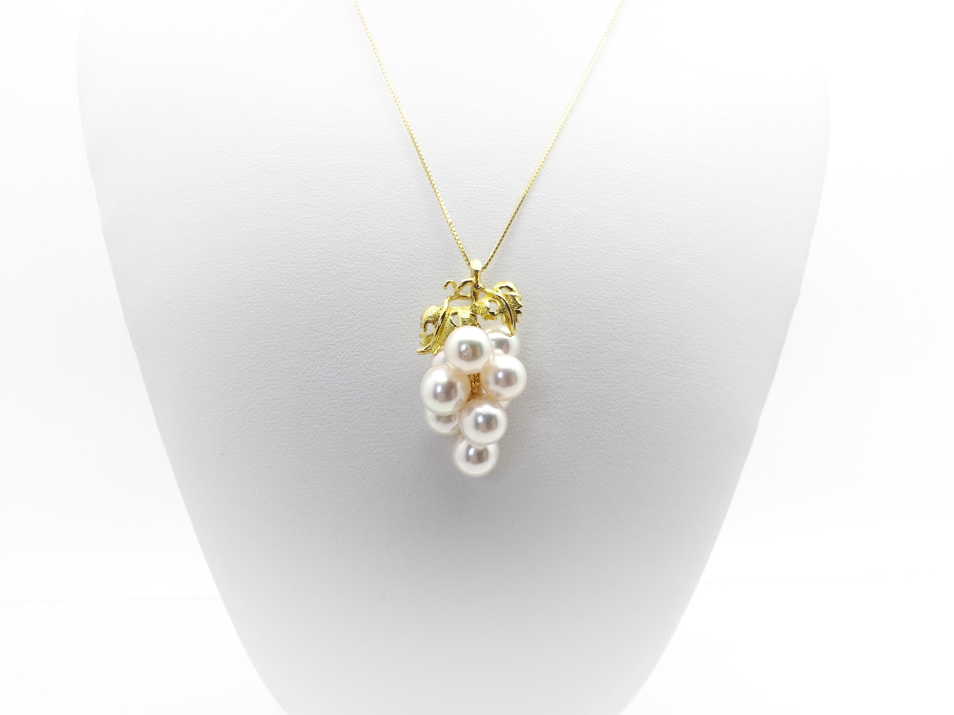 アコヤ真珠デザインペンダント