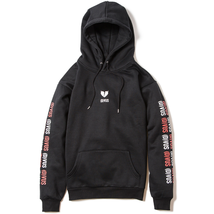 【Deviluse | デビルユース】Heartaches Pullover Hooded(Black)