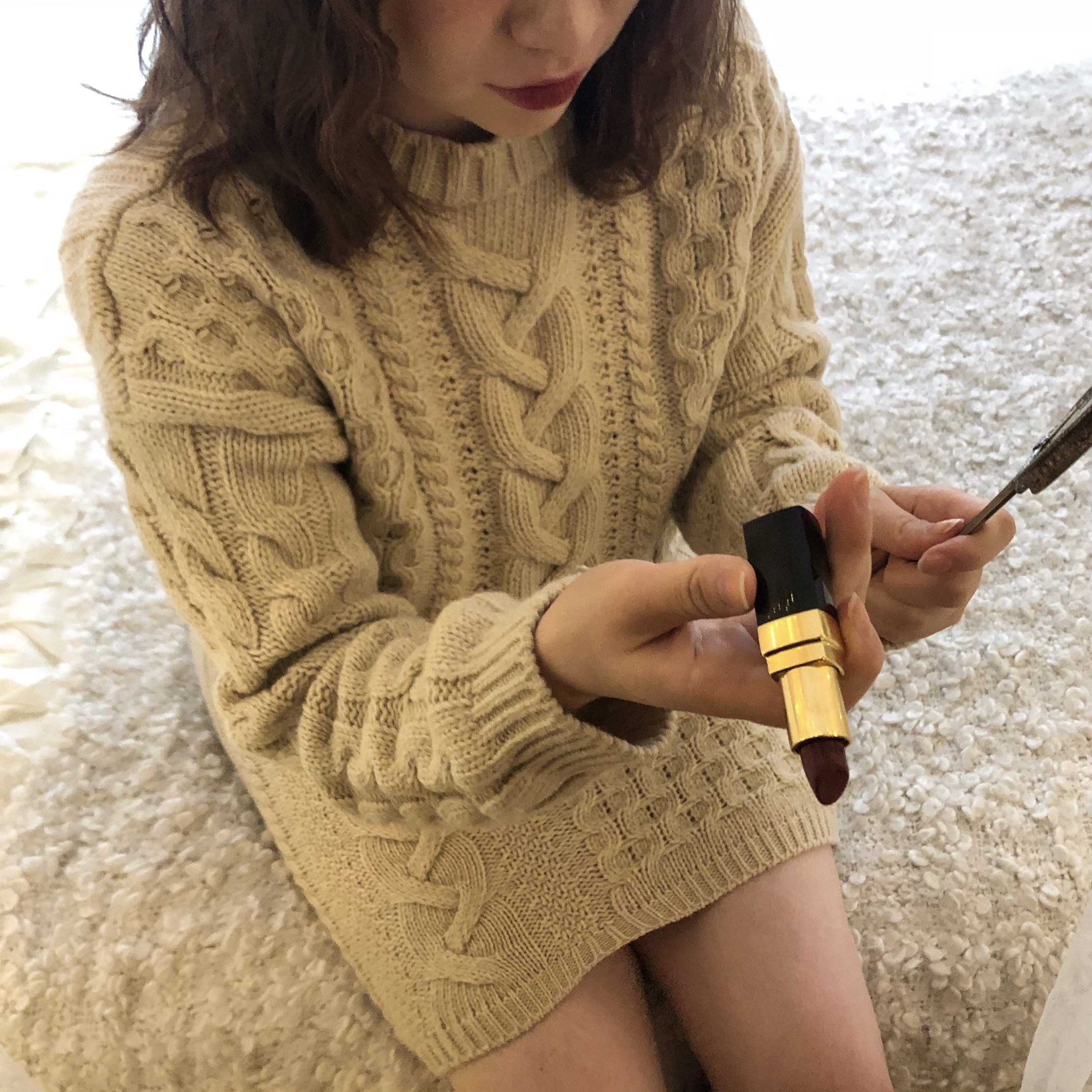 cable knit set up 2color
