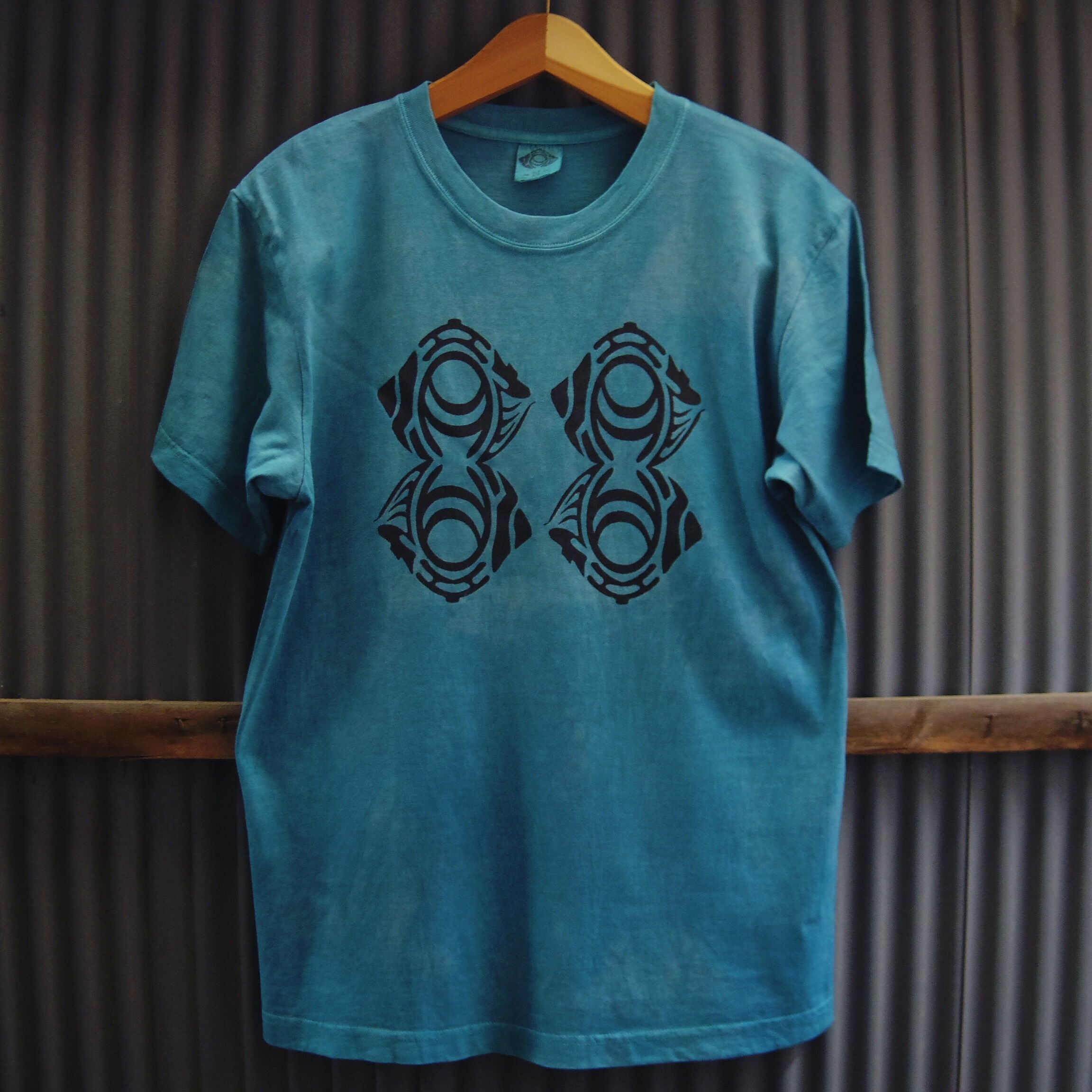 "TKHOME FACTORY ""ORIGINAL LOGO"" 後染め Organic Cotton T-shirt M"