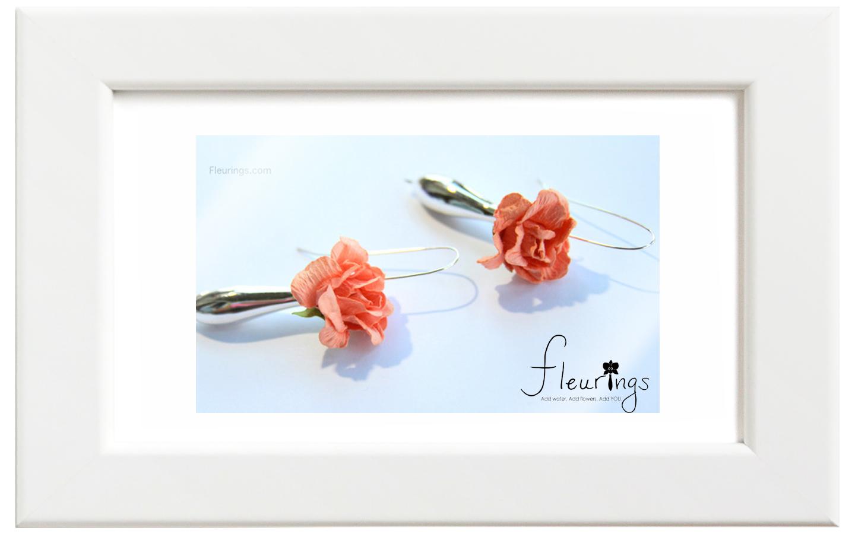 Fleurings/フルーリングス シルバーポリッシュイヤリング