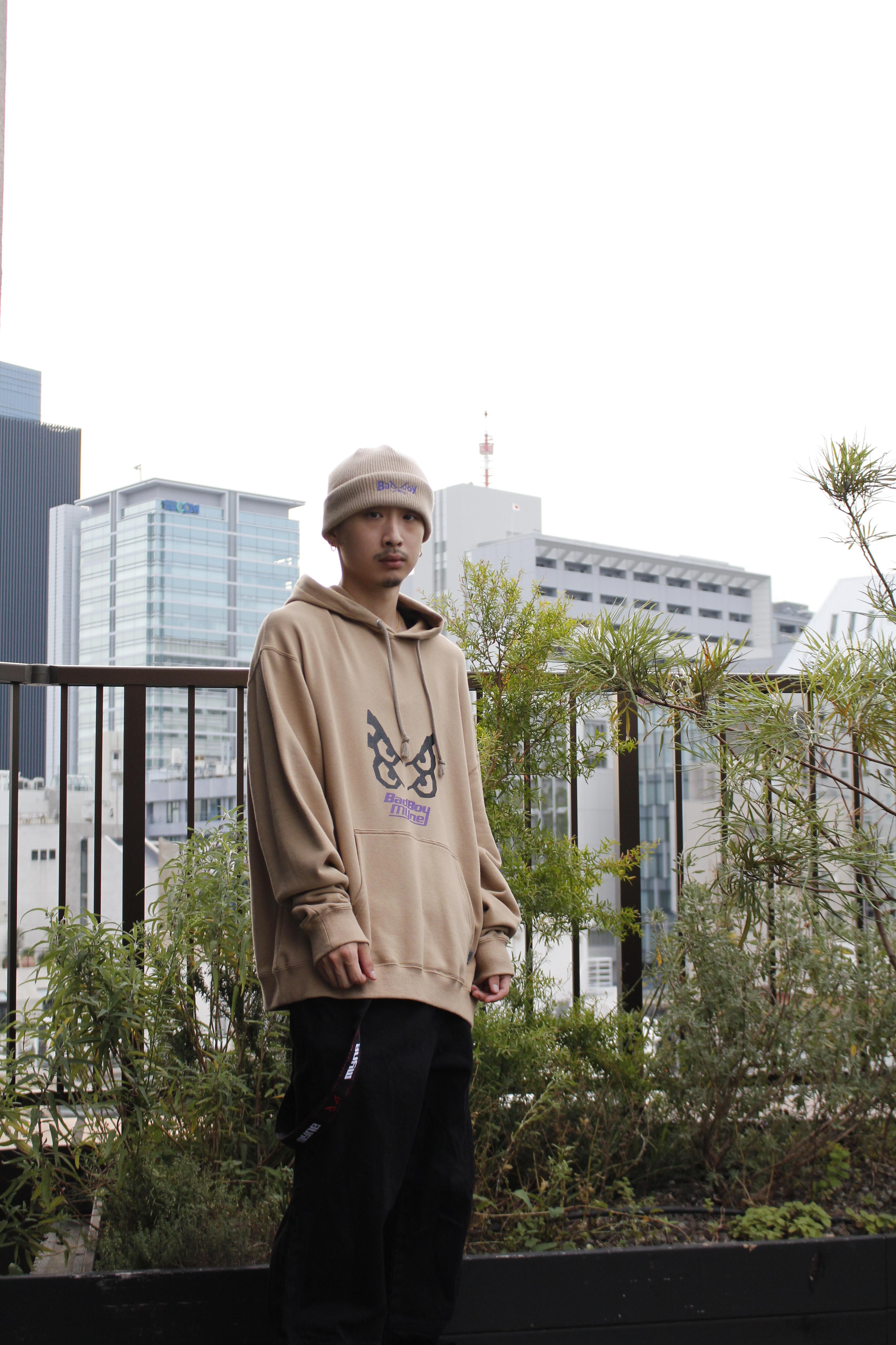 【10%OFF】MYne × BADBOY hoodie / BEIGE - 画像2