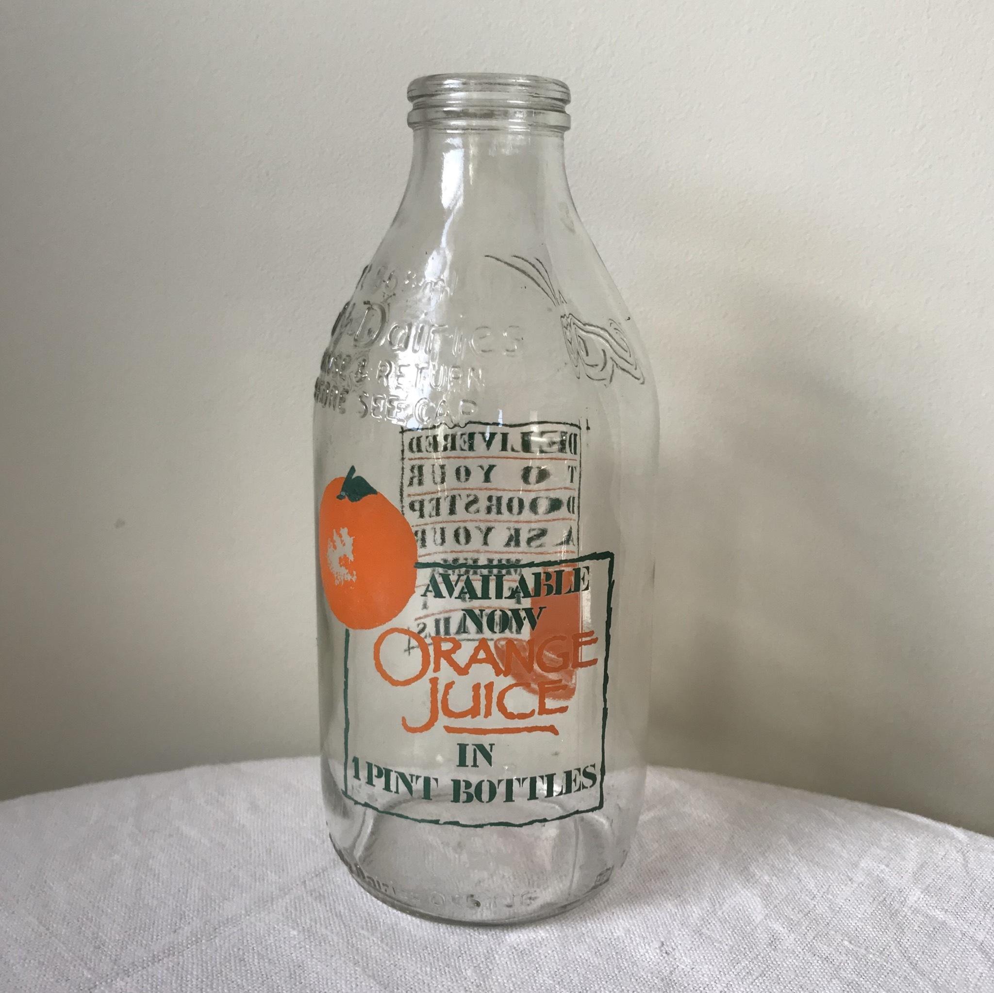 牛乳瓶 - オレンジジュース広告