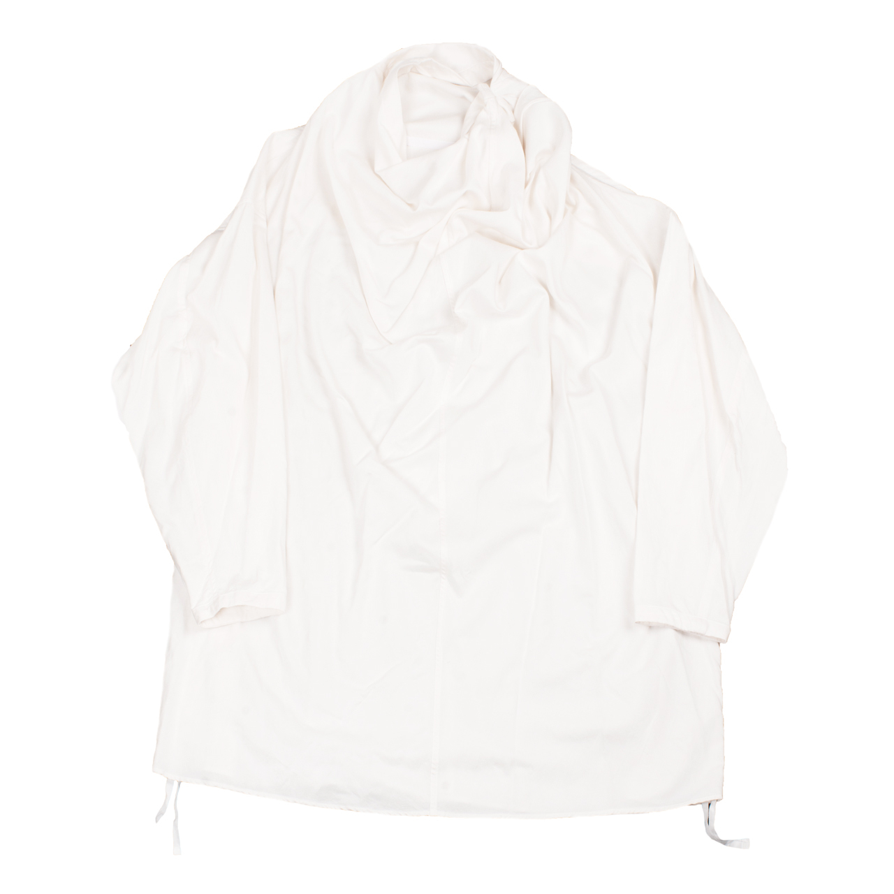 727SHM3-OFF WHITE / ドレープ ネック シャツ