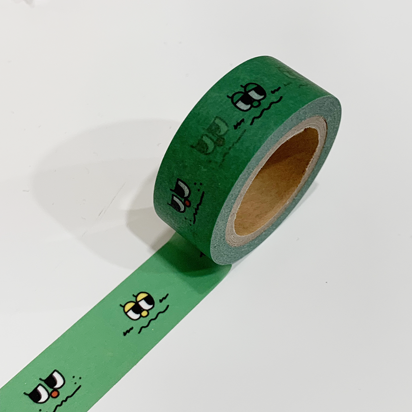 [OSY-07] 表情 マスキングテープ(グリーン)