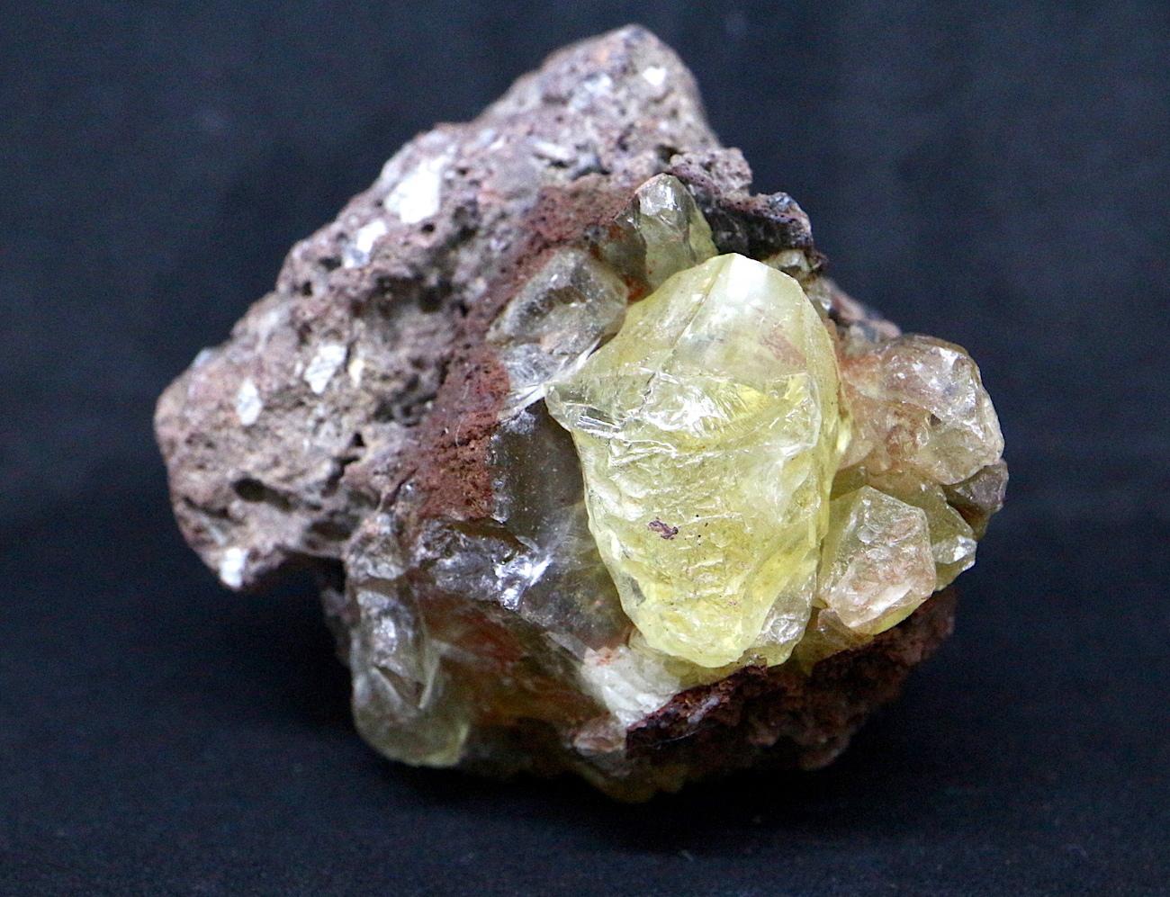 オレゴン サンストーン 母岩付き! 74g SUN024  鉱物 天然石 原石