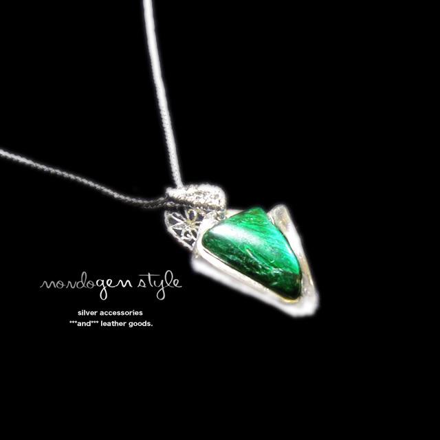 mondo gem style マラカイトのネックレス