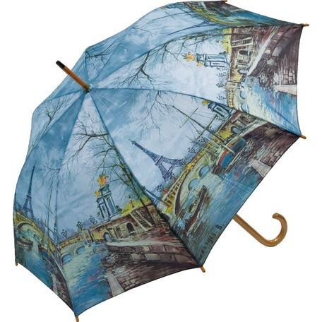 umbrella ジョーンズ(エッフェル塔) 名画木製ジャンプ傘  浜松雑貨屋Copernicus