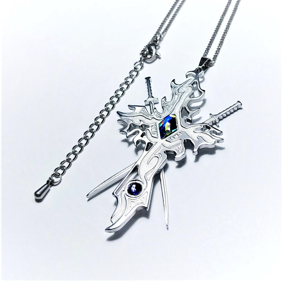 【Sword Crossネックレス】 刀&十字架 / 肌に優しい(金アレ)