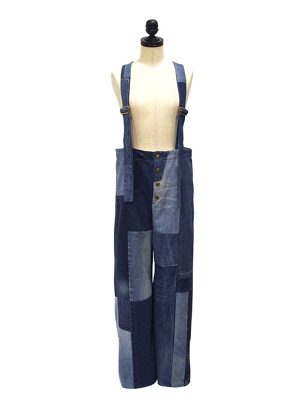 FADE OUT Label / NAVY Suspender Pants / Blue