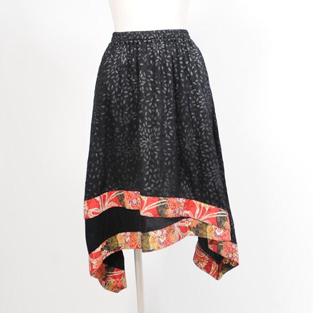 菊の花びらレイヤー風スカート/BK-RD/GGD24-S334