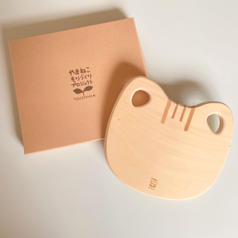 ツシマヤマネコ型カッティングボード