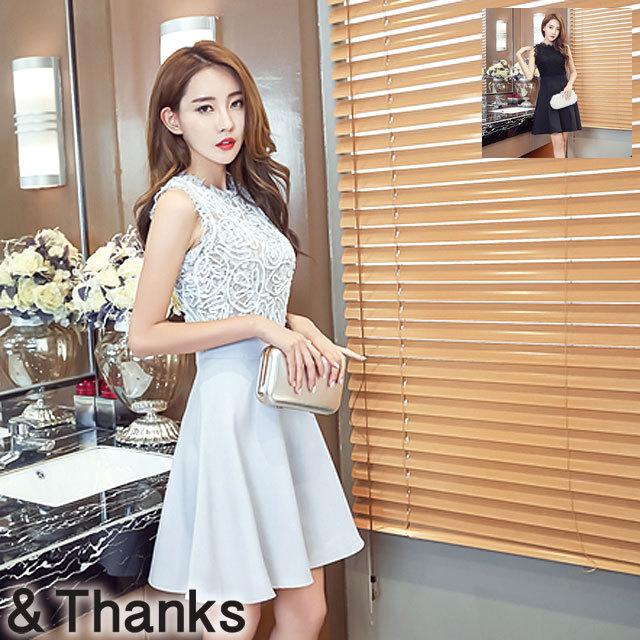 ドレス特集 ノースリーブスカートドレス 2カラー 3サイズ