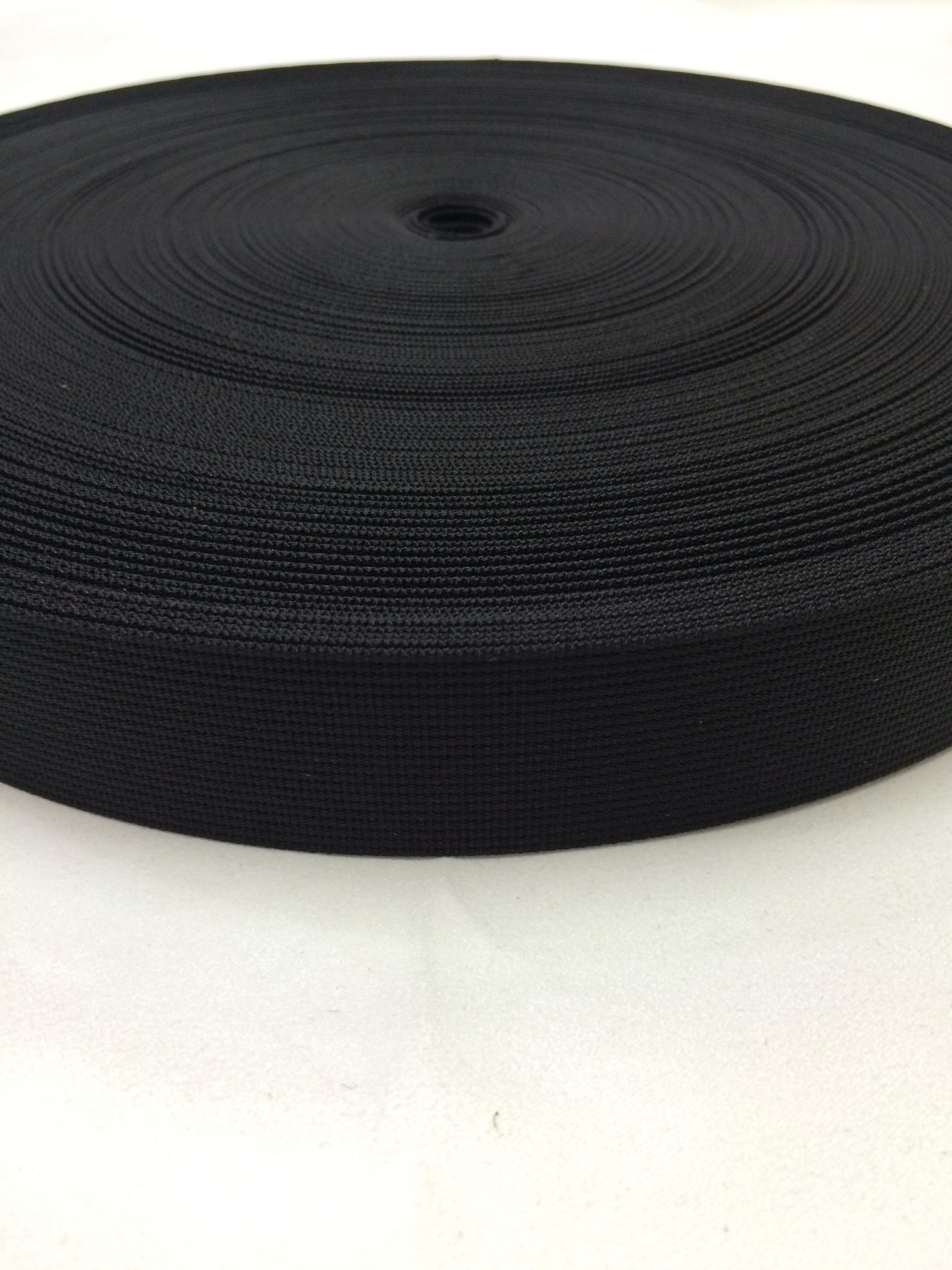 ナイロン ベルト 高密度 30mm幅 1mm厚 黒 1m