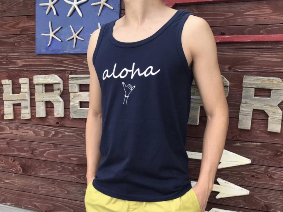 alohaサイン タンクトップ(navy)