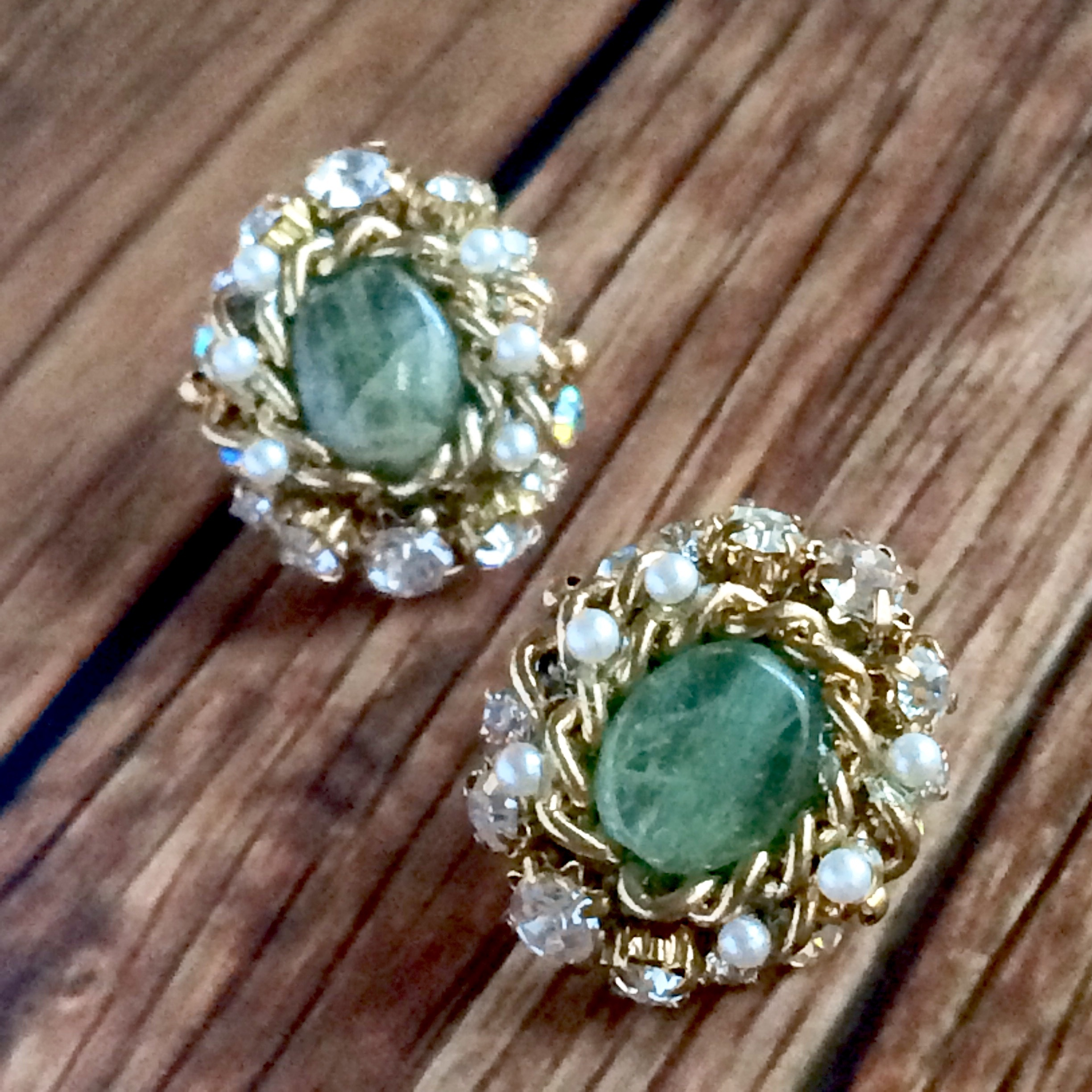 【 UNSEABLE 】Vintage design earrings Green