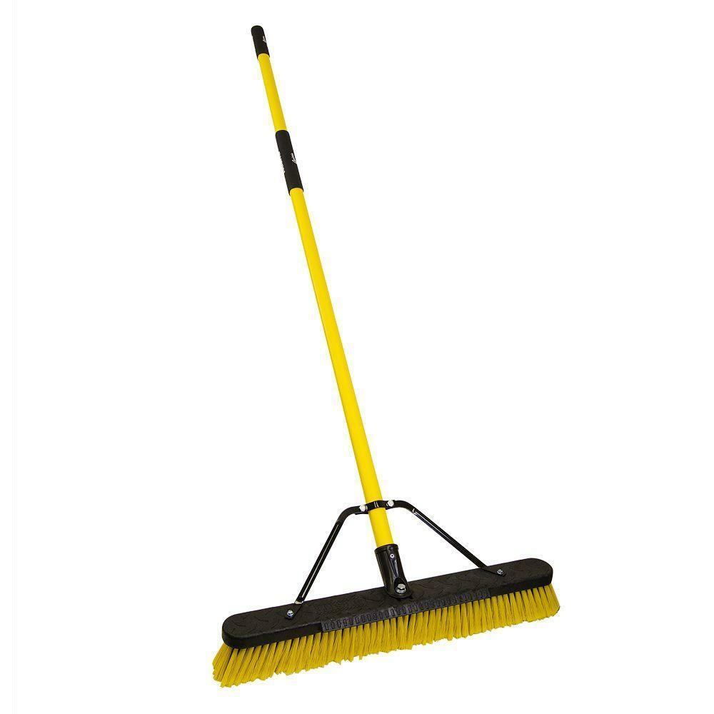 Quickie Jobsite 24 in. Multi-Surface Fiberglass Push Broom